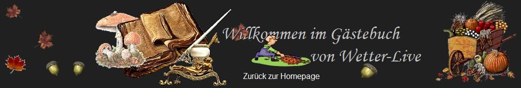 Gästebuch Banner - verlinkt mit http://www.wetter-live.at